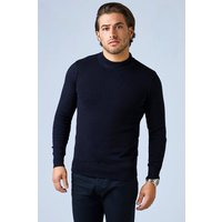 Sleeve Knitted Turtle Neck Jumper - black