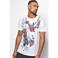 And Flower Sublimation T Shirt - white