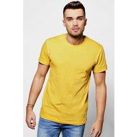 Crew Neck T Shirt - yellow