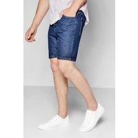Wash Denim Shorts - indigo