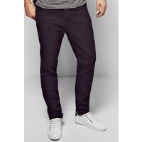 Black Slim Fit Rigid Jeans - black