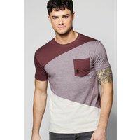 Pocket T Shirt - burgundy