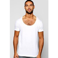 Scoop Neck T Shirt - white