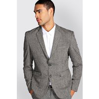 Fit Tweed Blazer - grey