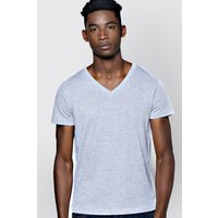 V-Neck T Shirt - grey