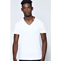 V-Neck T Shirt - white