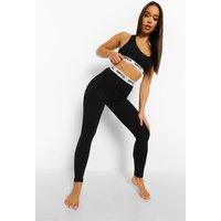 Womens Official Tape Jersey Lounge Leggings - Black - 14, Black