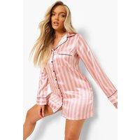 Womens Candy Stripe Nightshirt - Pink - 10, Pink