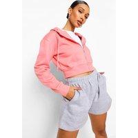 Womens Zip Thru Lounge Hoodie - Pink - 16, Pink