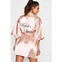 Womens Brides Squad Satin Dressing Gown - Metallics - S, Metallics