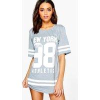 New York Stripe Dress - grey