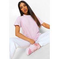 Womens Petite Acid Wash Oversized T-Shirt - Purple - M, Purple