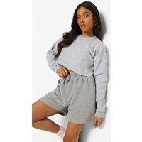 Womens Petite High Waist Jersey Boxer Short - Grey - 4, Grey