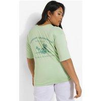 Womens Plus Torquay Back Print T-Shirt - Blue - 20, Blue