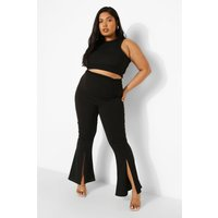 Womens Plus Ruched Tailored Trouser - Black - 18, Black