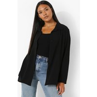 Womens Plus Oversized Shirt - Black - 20, Black