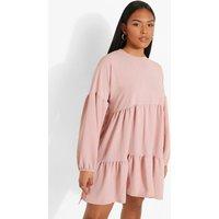 Womens Plus Long Sleeve Smock Dress - Pink - 24, Pink