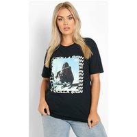 Womens Plus Ty Dolla Sign License Oversized T-Shirt - Black - 20, Black