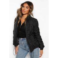 Womens Petite Padded Jacket - Black - 10, Black