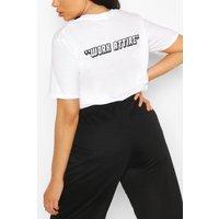 Womens Plus Work Attire Slogan T-Shirt - White - 24-26, White