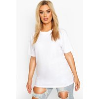 Womens Plus Basic Crew Neck T- Shirt - White - 16-18, White