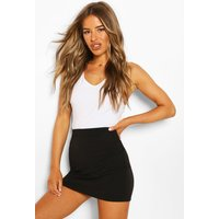 Womens Petite Recycled Basic Mini Skirt - Black - 14, Black