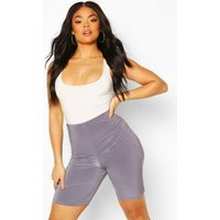 Womens Plus Double Layer Cycling Shorts - Grey - 22, Grey