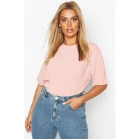 Womens Plus Soft Rib Oversized T-Shirt - Pink - 16, Pink