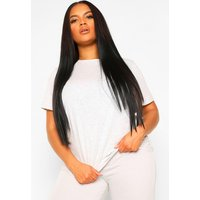 Womens Plus Basic Scoop Neck T-Shirt - Grey - 22, Grey