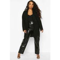 Womens Petite Single Breasted Pocket Detail Wool Look Coat - black - 14, Black