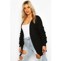 Womens Plus Premium Bobble Knitted Jumper - black - 24, Black