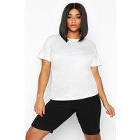 Womens Plus Soft Rib Tie Detail Cycling Shorts - black - 22, Black