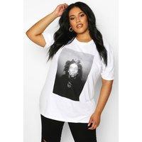 Womens Plus Bob Marley Licenced T-Shirt - White - 22, White
