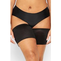 Womens Plus 2 Pack Black & Nude Anti-Chafing Bands - 18, Black