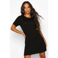 Womens Petite Smock Back Detail T-Shirt Dress - black - 8, Black