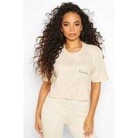 Womens Petite 'Honey' Slogan T-Shirt - beige - L, Beige