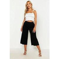 Pantalones estilo falda pantalón acanalados Plus