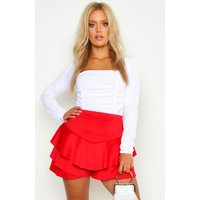 Womens Plus Ruffle Skort - Red - 20, Red