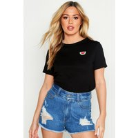Petite Water Melon Badge T-Shirt
