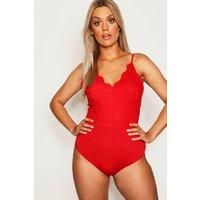 Womens Plus Premium Bodysuit - Red - 24, Red