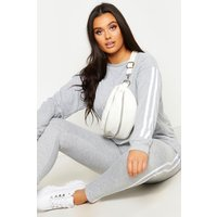 Womens Plus Side Stripe Loungewear Set - grey - 20, Grey