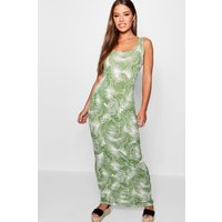 Petite Palm Print Maxi Dress