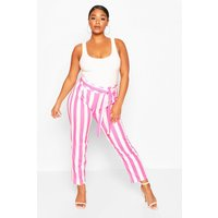 Womens Plus Striped Culotte - Pink - 20, Pink