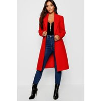 Womens Petite Duster Coat - red - 8, Red