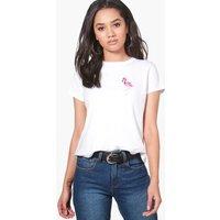 Hannah Bird Embroidered T-shirt - white