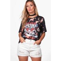 Freya Acid Wash Band T-shirt - multi