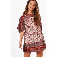 Boutique Charlotte Sequin Printed Mini Dress - multi