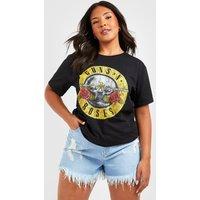 Womens Plus Guns N Roses License T-Shirt - black - 22, Black