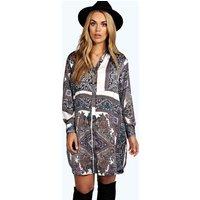 Donna Paisley Shirt Dress - multi