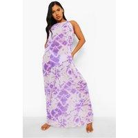Tie Dye Chiffon Beach Maxi Dress